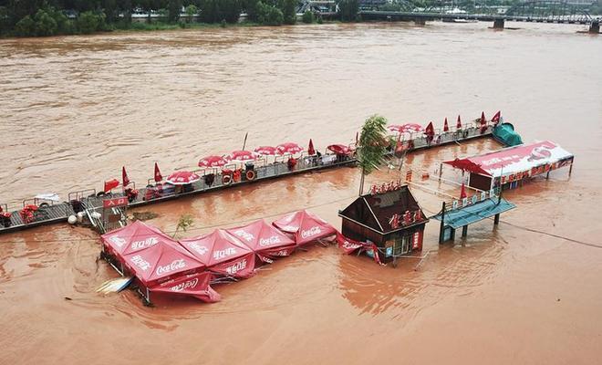 持续降雨致黄河兰州段水位流量居高不下